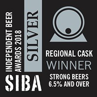 SILVER SIBA North West Independent Beer Awards 2018 Cask Strong Ales (6.5% ABV and over)