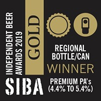GOLD SIBA North West Independent Beer Awards 2019 Bottle/Can Premium Pale Ales (4.4% to 5.4% ABV)
