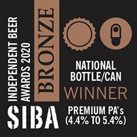 BRONZE SIBA National Independent Beer Awards 2020 Bottle/Can Premium Pale Ales (4.4% to 5.4% ABV)