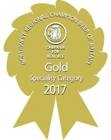 GOLD CAMRA North West Regional Champion Beer of Britain 2017 Speciality Category