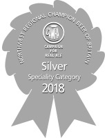 SILVER CAMRA North West Regional Champion Beer of Britain 2018 Speciality Category